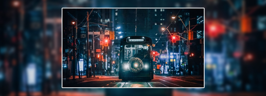 Empty black streetcar in Toronto marks National Day of Mourning for workers