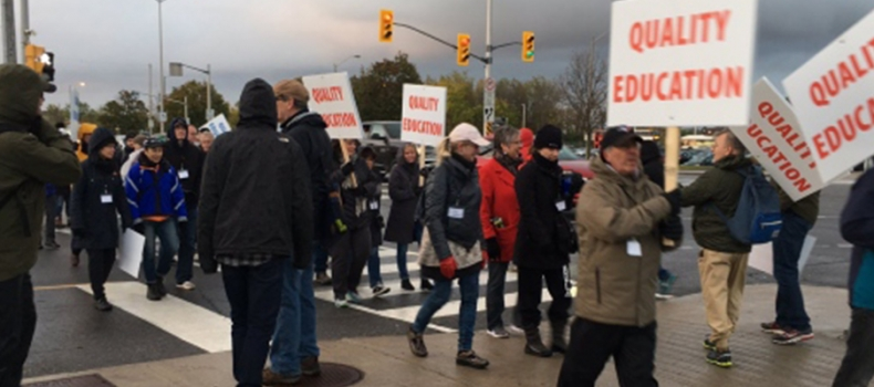 College Faculty Strike About More Than Just Job Status, Teacher Says